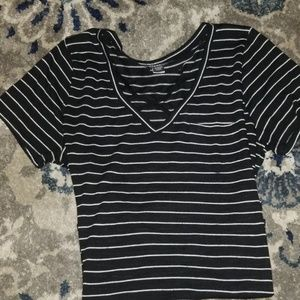 Torrid Black and White stripe top Size 2